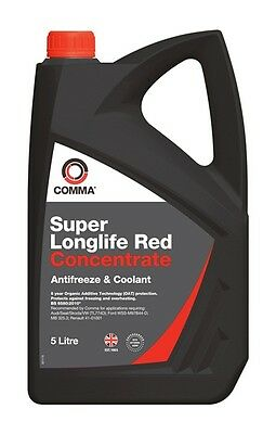 COMMA Super Longlife Antifreeze & Coolant Concentrated 5 Litre SLA5L