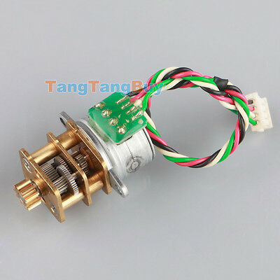 2Pcs 15mm Full Metal GearBox DC5V-12V 2 Phase 4 Wire Gear Reducer Stepper Motor