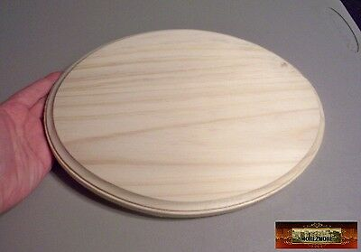 "M00510 MOREZMORE Unfinished 9"" x 12"" Oval Wood Base Wooden Plaque Stand A60"