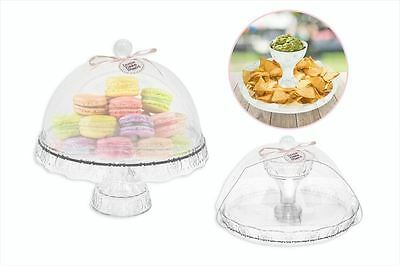 Dome Cover Lid Cake Stand Pedestal Cup Cake Display Stand Dip Tray