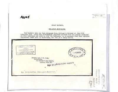 AQ145 1971 GB Emergency Mail Hillyer Cover