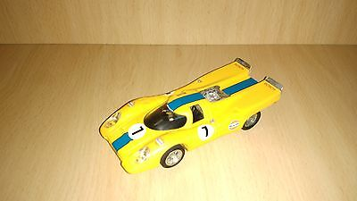 Scalextric exin porsche 917 yellow # c-46 original 1972 year