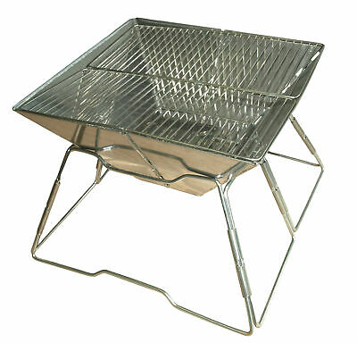 Quest Leisure Stainless Steel Folding Portable Camping Barbecue BBQ