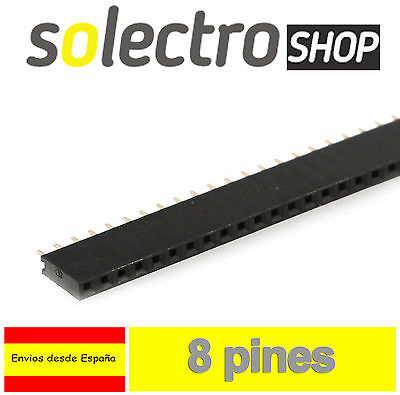 10x TIRA 8 PINES HEMBRA 1x8 row soldar Arduino female pin header PCB