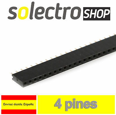 15x TIRA 4 PINES HEMBRA 1x4 row soldar Arduino female pin header PCB