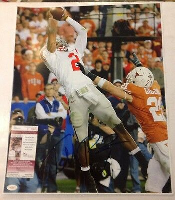 Terrelle Pryor Autographed Ohio State Buckeyes 16x20 Photo (Catching) w/ JSA COA