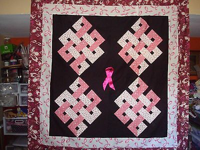 CELTIC QUARTER KNOTS QUILT TOP - Not Quilted, Made in the USA, Machine Pieced