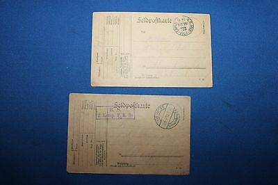 Two Original WW1 German Army Soldier's Named and Unit ID Feldpost Letter Cards