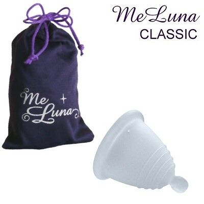 Me Luna Classic Shorty Menstrual Cup - Clear - 4 Sizes - Ball Style