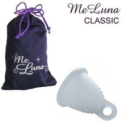 Me Luna Classic Shorty Menstrual Cup - Clear - 4 Sizes - Ring Style