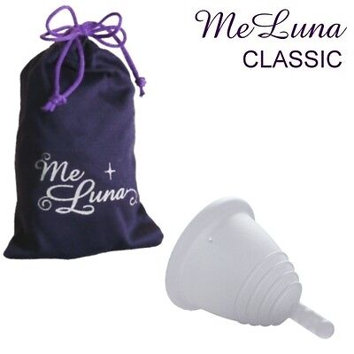 Me Luna Classic Shorty Menstrual Cup - Clear - 4 Sizes - Stem Style