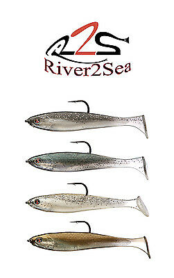 "River2Sea Rig Walker 100 Umbrela Rig Swimbait 4"" 4 Pack Select Colors"