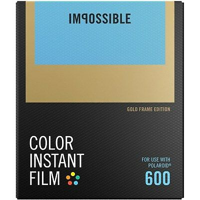 Impossible PRD2934 Color Glossy Instant Film with Gold Frames for Polaroid 600
