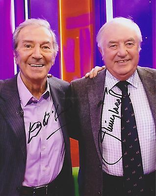 Jimmy Tarbuck & Des O Connor Hand Signed 8x10 Photo, Autograph, Comedian (B)