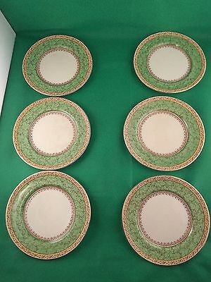 Booths Green Leaves 6 x Side Plates