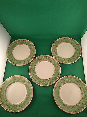 Booths Green Leaves 5 x Salad  Plates