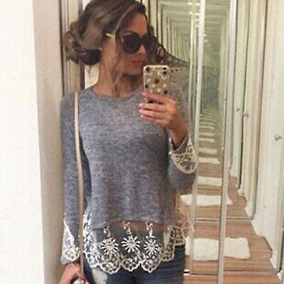 Women Casual Knitted Sweater Long Sleeve Pullover Loose Knitwear Jumper Tops