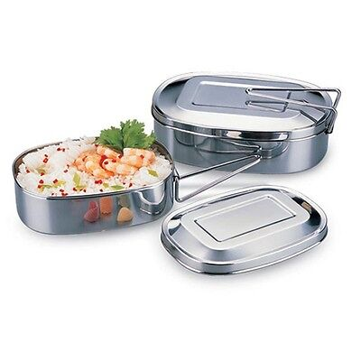 Stainless Steel Single Layer Student Tableware Square Insulation Lunch Box