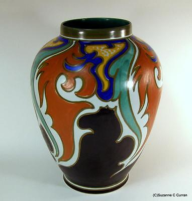 Gouda Holland Zampa 2951 Large Art Nouveau Vase