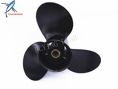 Outboard 9.25x9 Aluminum Alloy Propeller for Tohatsu Nissan 9.9hp 12hp 15hp 18hp