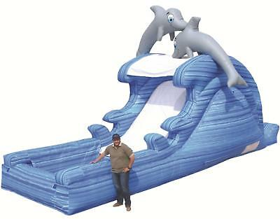 Commercial Inflatable Water Slide Dolphin Splash - Massive 9.3m long x 5m high!