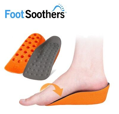 FootSoothers® In-Sock Arch Support Orange Height Increase Heel Lift Insoles