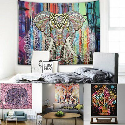 Indian Decor Mandala Tapestry Wall Hanging Hippie Throw Bohemian Dorm Bedspread