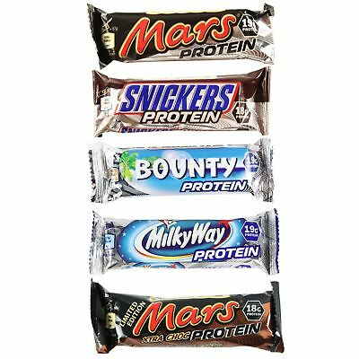 Bounty Mars Milkyway & Snickers Individual & Mixed Chocolate Protein Bars