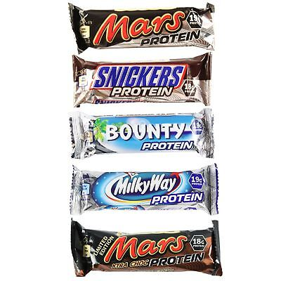 Bounty Mars & Snickers 1 3 6 or 9 Chocolate Protein Bars Over 18g Protein