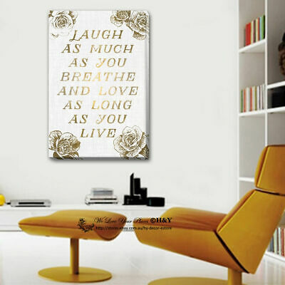 Quotes Stretched Canvas Prints Framed Wall Art HomeOffice Decor Painting Gift