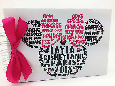 Personalised Minnie Mouse Autograph Book Disneyland Paris/disneyworld Florida