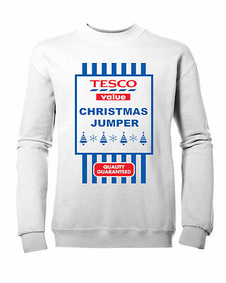 94d1f5972 KIDS BOYS GIRLS Tesco Value Christmas fun XMAS Jumper Sweatshirt ...