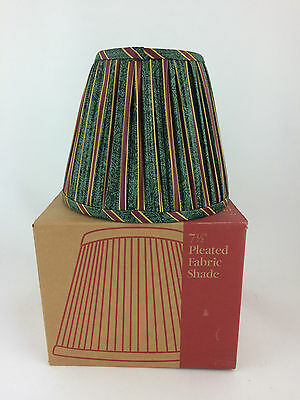 "Longaberger Pleated 7.5"" Lamp Shade Imperial Stripe w box"