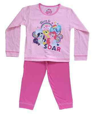 OFFICIAL MY LITTLE PONY MLP Girls Pink Pyjama Set Pyjamas PJS 1 2 3 4 Years