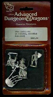 TSR CHARACTER MINIATURES CAVALIERS SEALED #5702 Metal Mini Dungeons Dragons D&D