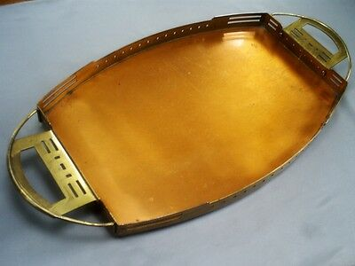 Antique Belgian/serrurier Bovy Arts & Crafts Secessionist Copper & Brass Tray