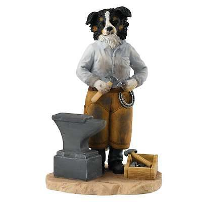Border Fine Arts Old Bob and Friends Smithy Border Collie Figurine New A27070