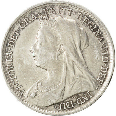 [#36150] GREAT BRITAIN, 3 Pence, 1895, KM #777, EF(40-45), Silver, 16, 1.44