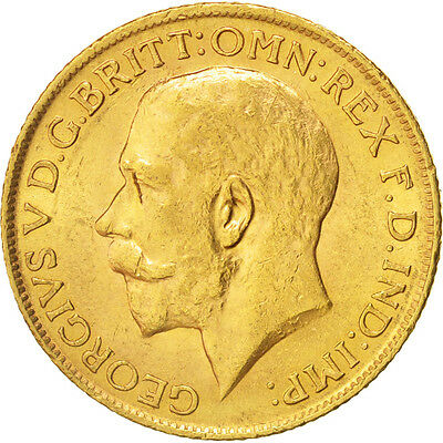 Great Britain, George V, Sovereign, 1912, MS(60-62), Gold, KM:820