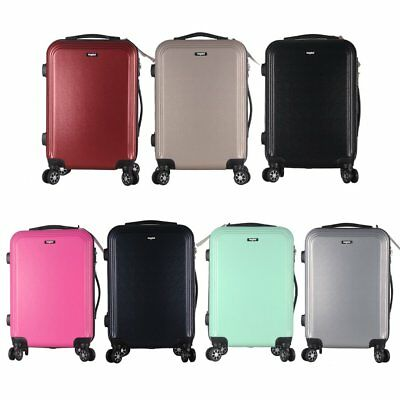 """Hard Shell Abs 20"""" Carry On Hand Spinner Luggage Trolley Cabin Approved Suitcase"""