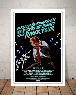Bruce Springsteen The River 2016 Concert Flyer Autographed Signed Photo Print