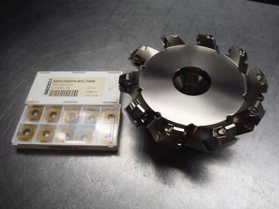 """Seco 5"""" Indexable Facemill 1.5"""" Arbor R220 53 0500 15 10A w/ Inserts (LOC2369)"""