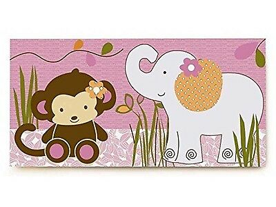CoCaLo Baby Jacana Canvas Wall Art 24 in x 12 in Monkey Elephant