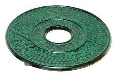 Green Bamboo Cast Iron Trivet for Teapot Hot Pad  Pot Stand S-4034