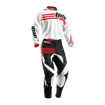 THOR Motocross Hose + Jersey 2016 - Phase Strands - weiß
