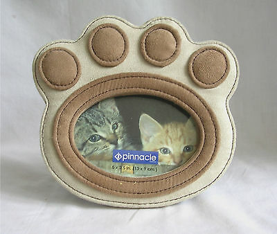 Cat Pawprint Suede Picture Frame 3.5 X 5 GIFT