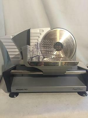 Waring Pro FS150 Professional Electric Food Slicer Premium Coated Steel Aluminum