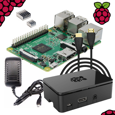 Raspberry Pi 3 Complete Starter Kit: Power Adapter, 6ft HDMI cable, Premium Case