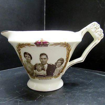 The Royal Family Coronation Souvenir 1937 Creamer Pitcher J Kent LTD Britain