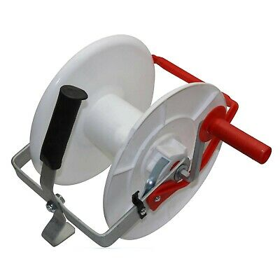 Wind Up Geared Electric Fence Reel for Poly Wire / Tape - Strip Grazing